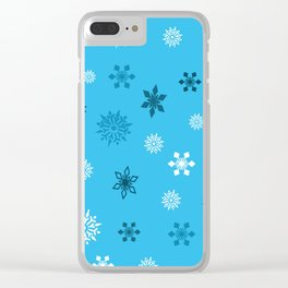 Christmas Snow Flakes Clear iPhone Case