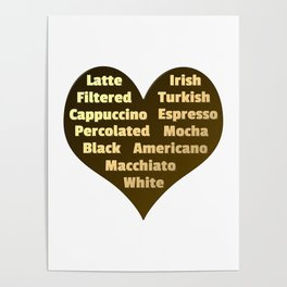 Love for Coffee Poster