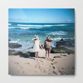 Beach Bunnies in Maui, Hawaii Metal Print