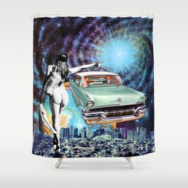 Nude Hitchhiker Shower Curtain