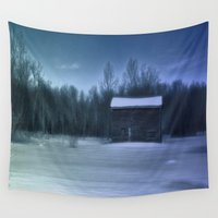 chill Wall Tapestries featuring Blue Chill by Dorothy Pinder