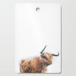 Highland Cow Watercolour Cutting Board