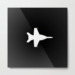 F-18 Hornet Fighter Jet Metal Print