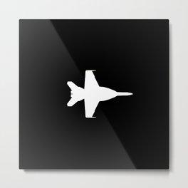 F-18 Hornet Fighter Jet Metal Print