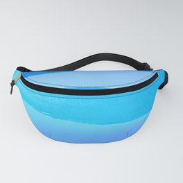 Atlantic Ocean - Minimal Stripes And Layers Fanny Pack
