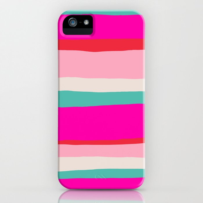 Candy Stripe Christmas iPhone Case