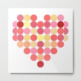 Circles of Love Metal Print