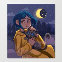 coraline Canvas Prints featuring Coraline by Corelle_Vairel