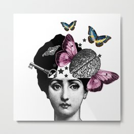 Free Your Mind/ Freedom to be Creative Metal Print