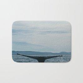 Whale in the sea Bath Mat