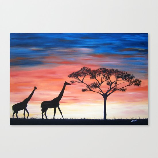 Africa Series - Seeking Shelter Before the Storm Canvas Print
