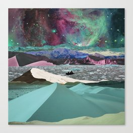 Cold desert in space Canvas Print