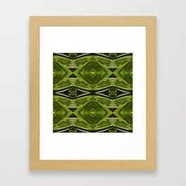 Dew Drop Jewels on Summer Green Grass Framed Art Print