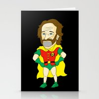 robin williams Stationery Cards featuring Robin as Robin by Chris Piascik
