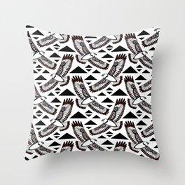 The Hawk's Flight Throw Pillow