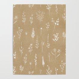 Wildflowers kraft Poster