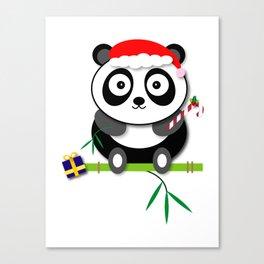Holiday Panda Canvas Print