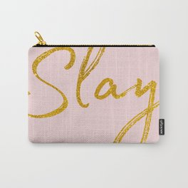 Slay in Gold and Pink Carry-All Pouch