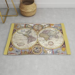 World Old Map from 1626 Rug