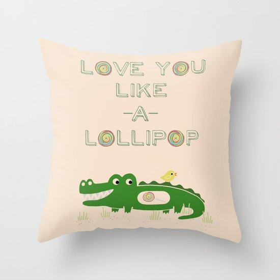 Like A Lollipop Throw Pillow