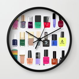 My nail polish collection art print Wall Clock