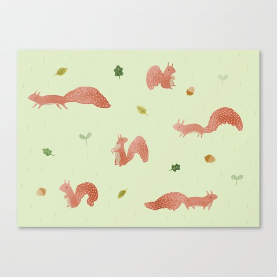 Red Squirrels Canvas Print