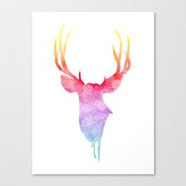 Neonimals: Deer Canvas Print