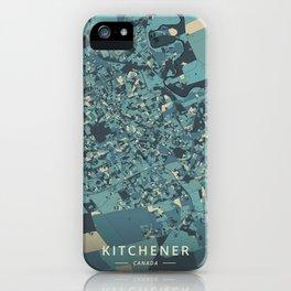 Kitchener, Canada - Cream Blue iPhone Case