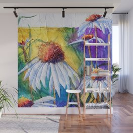 Cone Flowers by Maureen Donovan Wall Mural