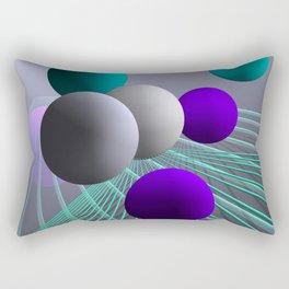 converging lines and balls -4- Rectangular Pillow