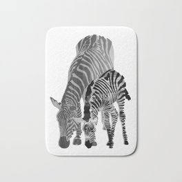 Striped Love (black and white) Bath Mat