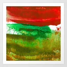 Encaustic Abstract No.27L by Kathy Morton Stanion Art Print
