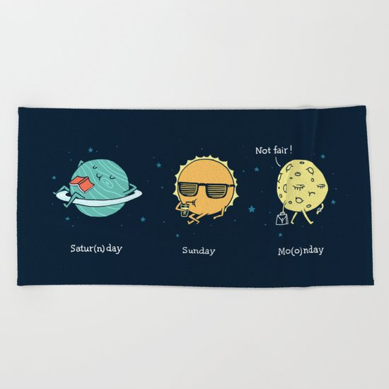 Moonday Beach Towel