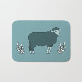 Green Sheep on Fleek Bath Mat