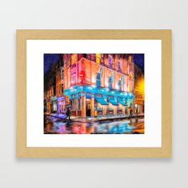 Rainy Night In Dublin Town - Irish Pub Art Framed Art Print