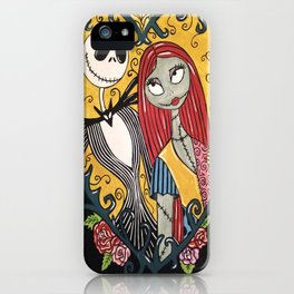 Jack Skellington and Sally 2 iPhone Case