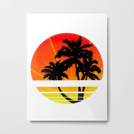 Laid Back Sunset Metal Print