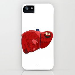 Happy Liver iPhone Case