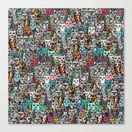 Gemstone Cats Canvas Print