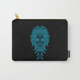 Blue Leo Zodiac Sign in the Stars Carry-All Pouch