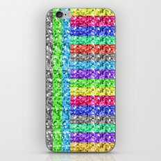 Pixelated colors iPhone Skin