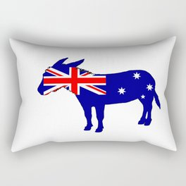 Australian Flag - Donkey Rectangular Pillow