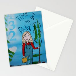 Time to Get Dirty Stationery Cards