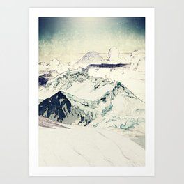 Flight Over Yatsugate Art Print