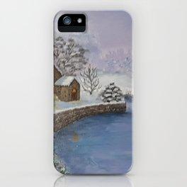 Beautiful  winter  evening iPhone Case