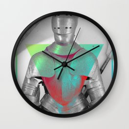 Empty Armor Wall Clock