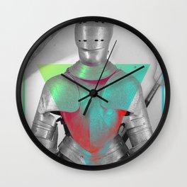 Empty Armor Wall Clock