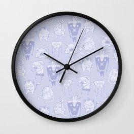 Kawaii Monsterz Pattern Wall Clock