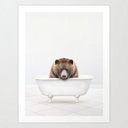 Big Bear Solo Bath Art Print