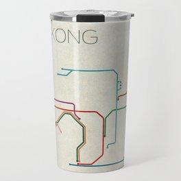 Minimal Hong Kong Subway Map Travel Mug
